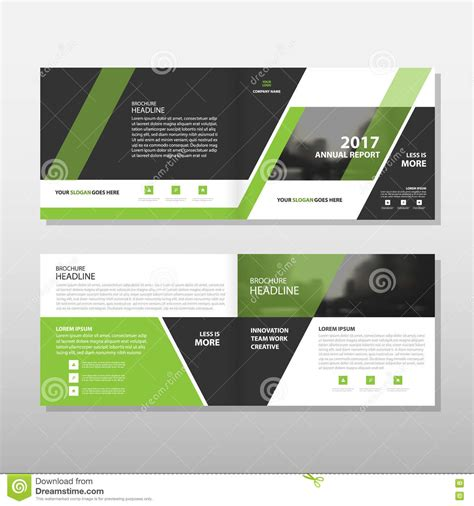 layout design green green black triangle vector annual report leaflet brochure
