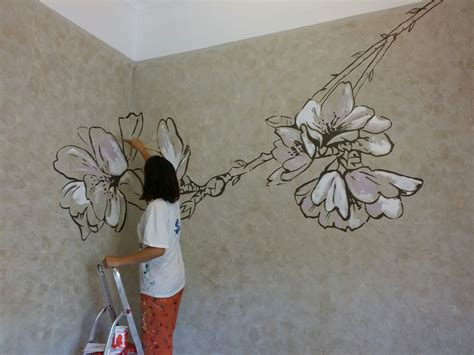 wall paiting almond flower wall painting anabeltra