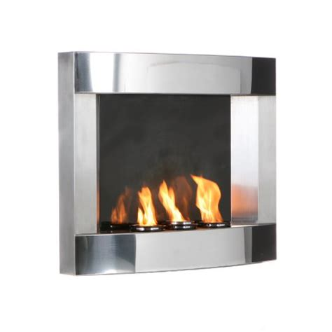 Stainless Fireplace by Shopping Sei Stainless Steel Wall Mount Fireplace Shopping