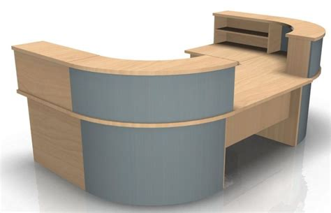 kompass u shape reception desk with low level section