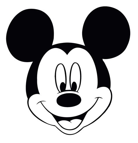 Mickey Mouse Silhouette Template by Mickey Mouse Template Free Clipart Best