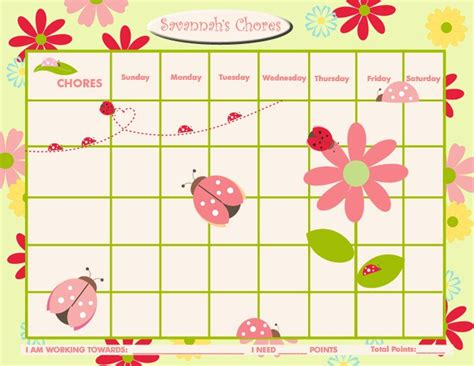 printable incentive charts for students printable personalized chore chart reward chart for children