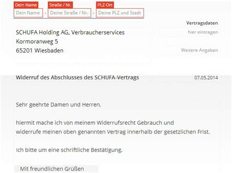 Was Steht In Der Schufa Für Vermieter by Schufa Widerruf Vorlage Chip