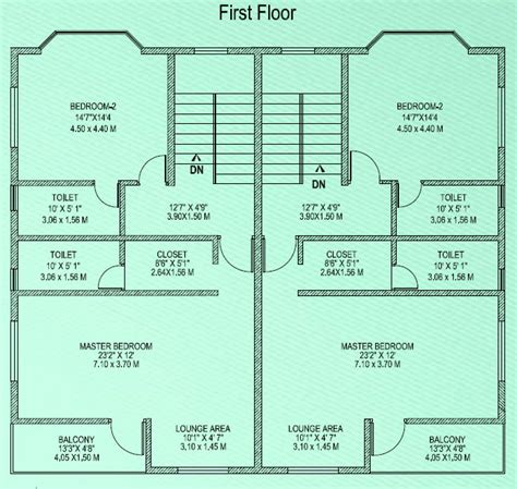 semi detached floor plans semi detached house plans