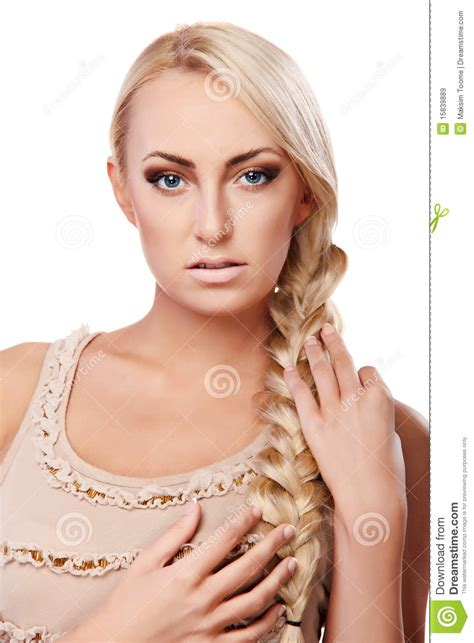 lady of braids lady with braid royalty free stock images image 15839889