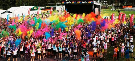los angeles color run active the shaker