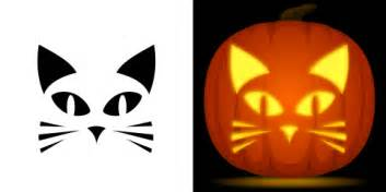 cat pumpkin template easy cat pumpkin carving stencil free pdf pattern to