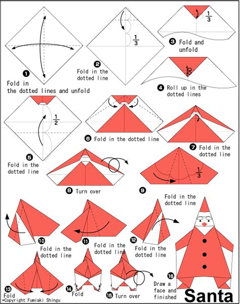 Origami Santa - sweet tresa 184 184 168 how to fold santa origami ways