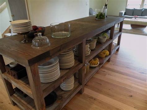 Salvaged Wood Kitchen Island | kitchen reclaimed wood kitchen island kitchen islands