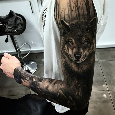40 Deep And Super Cool Forest Tattoo Ideas Bored Art Awesome Wolf Designs