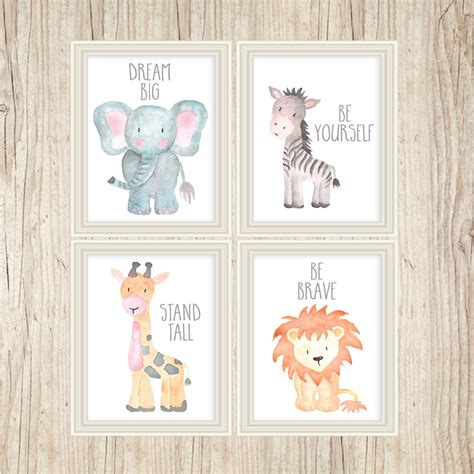 Jungle Wall Decor For Nursery Safari Nursery Decor Safari Nursery Wall Nursery Print