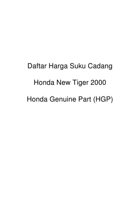 Suku Cadang Honda Win daftar harga suku cadang honda new tiger 2000 honda html