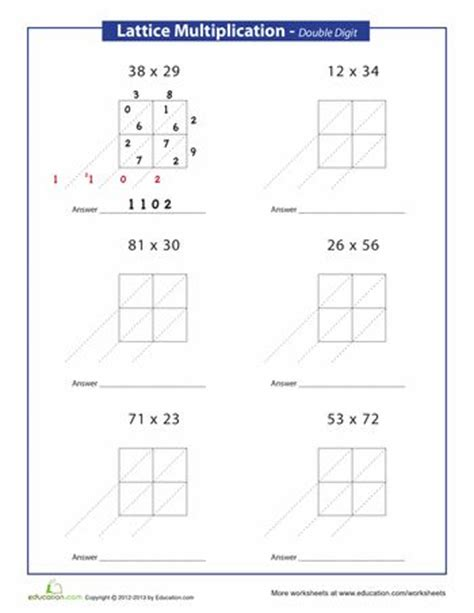 Multiplication Boxes Worksheets by Box Method Multiplication Worksheet Multiplication Grid