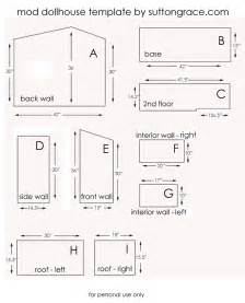 Doll House Template by Sutton Grace Mod Doll House Plans