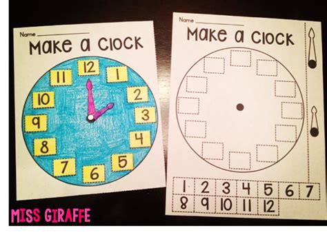 How To Make A Clock With A Paper Plate - miss giraffe s class telling time in grade