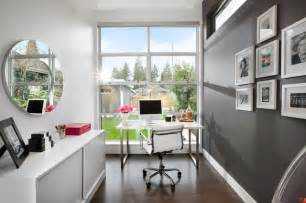 home office office with a view modern home office vancouver by meister construction ltd