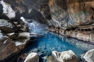 iceland caves grj 243 tagj 225 cave underground hot springs beneath the basalt