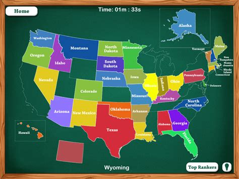 map of the united states game free online 50 states map game