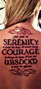 serenity prayer tattoos designs ideas and meaning
