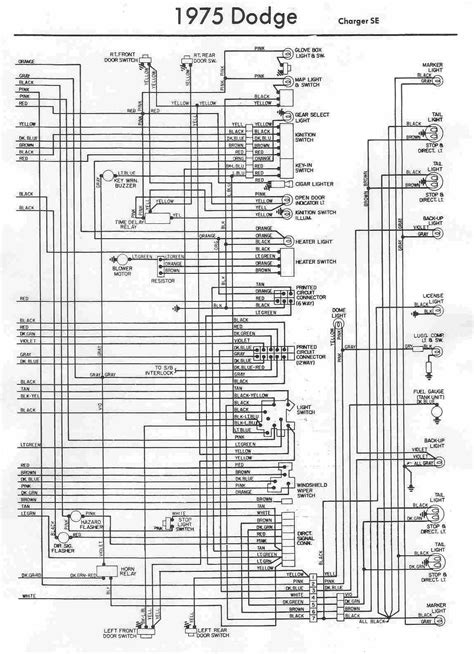 electrical wiring diagram of 1975 dodge charger se