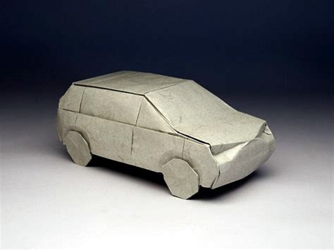How To Make A Paper 3d Car - yoshizawa origami doodle 2012