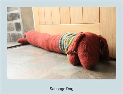 draught excluder knitting pattern sausage draught excluder knitted sausagedog