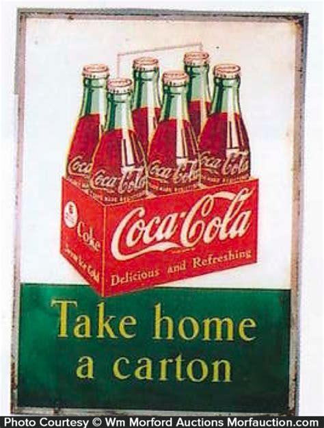 antique advertising coca cola take home a sign