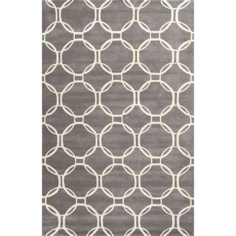 area rugs 8x8 contemporary trellis chain and tile pattern gray ivory wool area rug 8x8 walmart