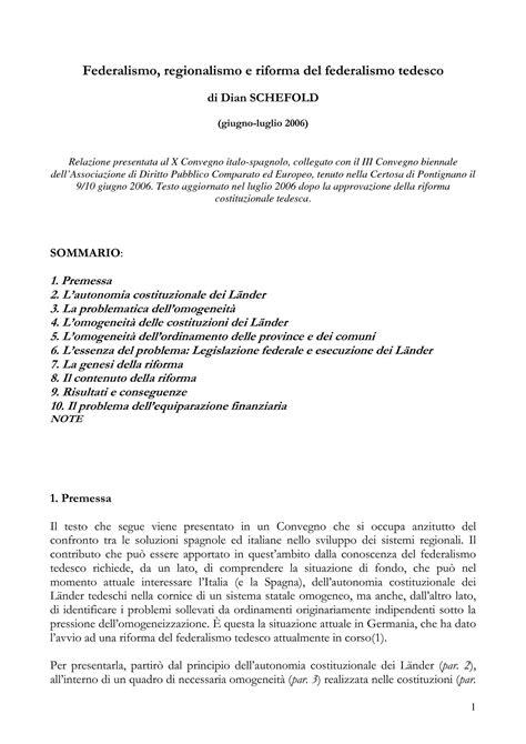diritto regionale dispense federalismo regionalismo e la riforma federalismo