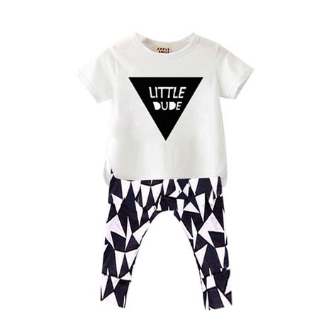 2pcs Baby Boy Clothes 2016 new style baby boy clothes sleeve t shirt