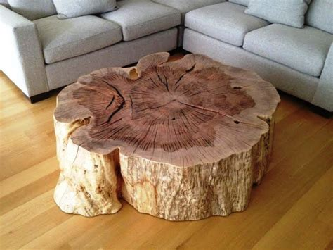 tree stump coffee table unique design tree stump