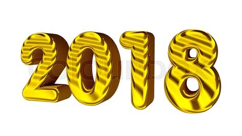 When Is In 2018 New Year 2018 3d Golden Numbers With Texture Isolated On