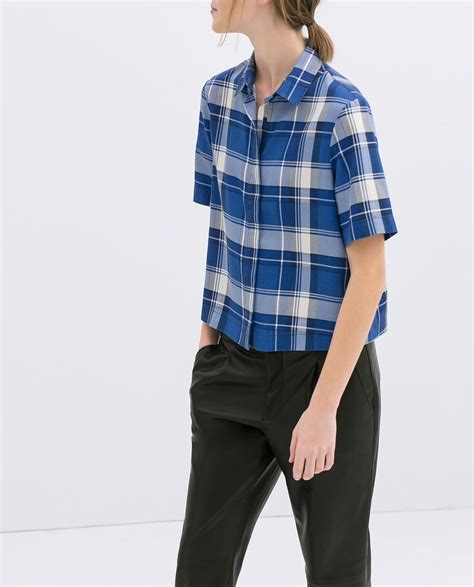 New Shirt Zara zara new collection checked shirt clothes before