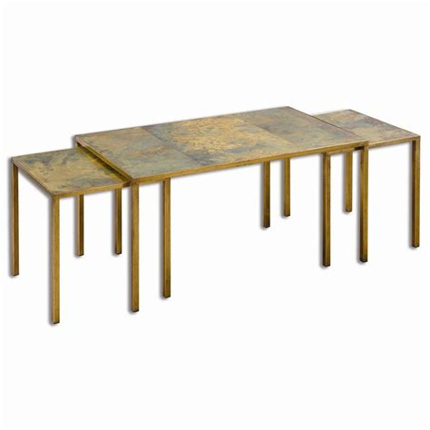Uttermost Coffee Tables uttermost couper nesting coffee tables set 3