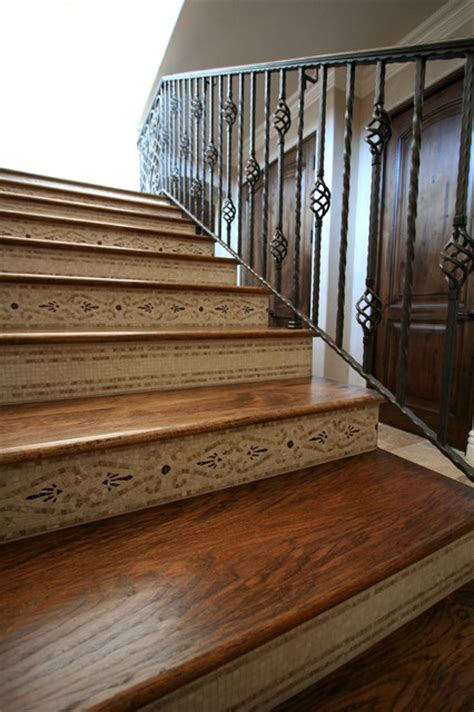Decorative Stair Risers by Decorative Staircase Risers