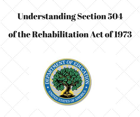 section 504 of the rehabilitation act of 1973 summary section 504 of the rehabilitation act of 1973 education