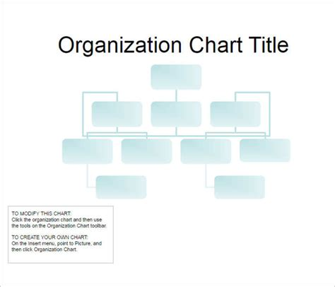 107 Organizational Chart Templates Free Word Excel Formats Simple Org Chart Template