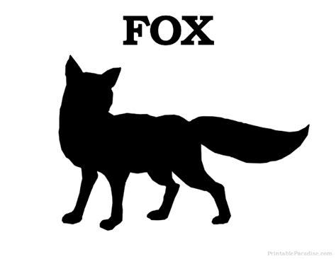printable animal silhouette targets printable fox silhouette print free fox silhouette