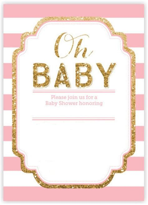Baby Shower Pink And Gold by Pink And Gold Baby Shower Invitations Xyz