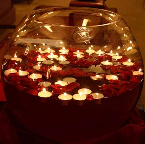 diwali decorations using floating candles floating