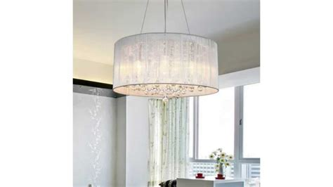 drum cylinder l shade lightinthebox modern crystal pendant light in cylinder