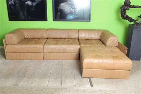 Comfortable Living Room Sets Leather Cognac De Sede Comfortable Living Room Set 70 S Image 2