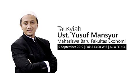 10 Buku Saku Terbaik Ust Yusuf Mansyur tausyiah ust yusuf mansyur universitas islam sultan