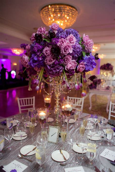 purple flower arrangements centerpieces best 25 purple wedding centerpieces ideas on