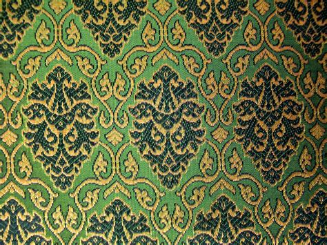 indian pattern fabric fat quarter of olive green indian silk brocade fabric with a