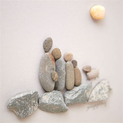 the pebble in my personalised family pebble picture by daisy maison notonthehighstreet com