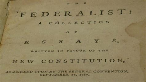 constitution printed for dissemination in new york state with george today is the anniversary of the federalist papers
