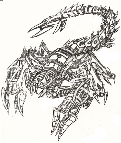 cool scorpion drawings pictures to pin on pinterest