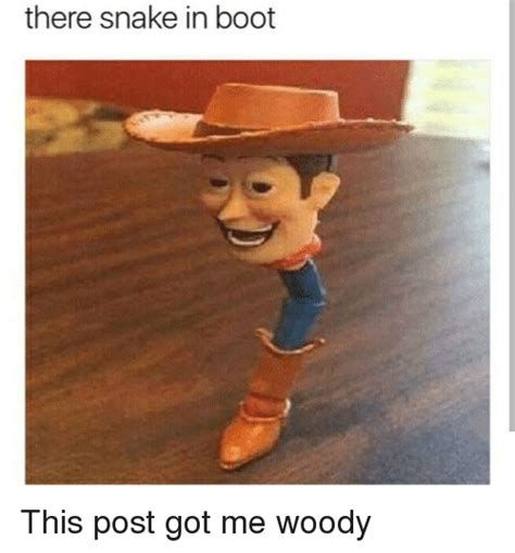 Woody Meme - there snake in boot snake meme on me me