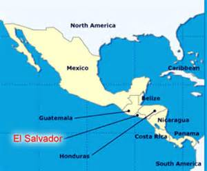Central America Map El Salvador by The Emerald El Salvador About El Salvador
